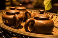 Traditional Chinesei `Zi Sha` kettle Stock Images