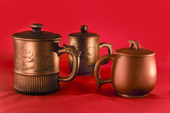 Traditional chinesse tea mugs Stock Photo