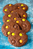 Traditional chocolate cookie for Halloween Royalty Free Stock Photo