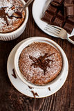 Traditional chocolate souffle Royalty Free Stock Image