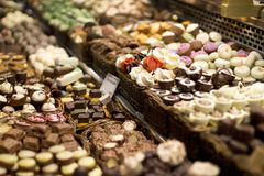 Traditional chocolate store royalty free stock photo