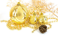 Traditional Christmas ball Royalty Free Stock Photos