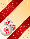 Traditional Christmas ball ornaments Royalty Free Stock Photography