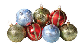 Traditional christmas balls Stock Image
