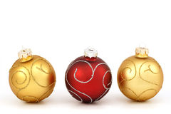 Traditional christmas balls Stock Photography