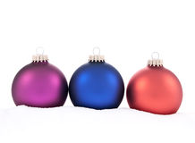 Traditional Christmas Balls on white background Royalty Free Stock Images
