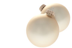 Traditional Christmas Balls on white background Stock Photo