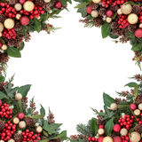 Traditional Christmas Border Stock Images