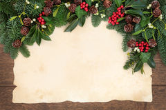 Traditional Christmas Border Royalty Free Stock Image