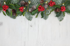 Traditional Christmas Border Stock Photography