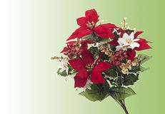 Traditional Christmas bouquet on green Stock Photo