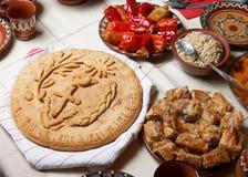 Traditional Christmas bread stock image