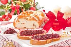 Traditional Christmas Cake. Stock Photo