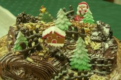 Buche de noel royalty free stock photography