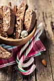 Traditional christmas candy cane Stock Photography