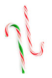 Traditional christmas candy canes Stock Photos