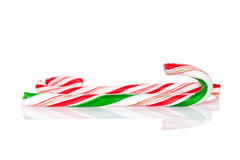 Traditional christmas candy canes Stock Photo