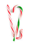 Traditional christmas candy canes Stock Images