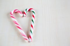 Traditional christmas candy heart Royalty Free Stock Image