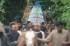 TRADITIONAL CHRISTMAS CELEBRATION JAVANESE Royalty Free Stock Images