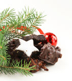 Traditional Christmas cookies for gift Stock Photos