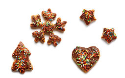 Traditional christmas cookies - isolated Stock Images