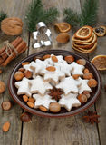 Traditional Christmas cookies zimtsterne Stock Images