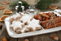 Traditional Christmas cookies zimtsterne Royalty Free Stock Photo