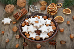 Traditional Christmas cookies zimtsterne Royalty Free Stock Photography