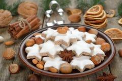 Traditional Christmas cookies zimtsterne Stock Image