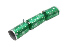 Traditional Christmas cracker isolated on white Stock Photography