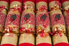 Traditional Christmas Crackers Stock Images