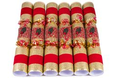Traditional Christmas Crackers Stock Photos