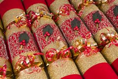 Traditional Christmas Crackers Stock Image