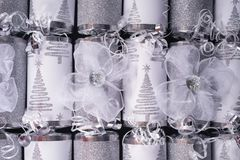 Traditional Christmas Crackers Stock Photo