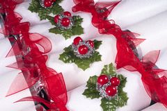 Traditional Christmas Crackers Royalty Free Stock Photos