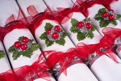 Traditional Christmas Crackers Stock Photography