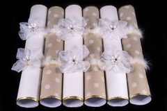 Traditional Christmas Crackers Royalty Free Stock Photography