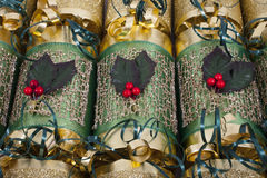 Traditional Christmas Crackers Royalty Free Stock Image