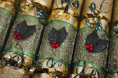 Traditional Christmas Crackers Royalty Free Stock Photo