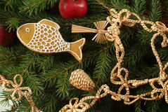 Traditional Christmas decoration Stock Photos