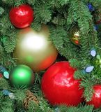 Traditional Christmas Decorations. Adorn a Christmas Tree Royalty Free Stock Images