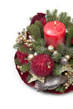 Traditional Christmas decorations of Christmas trees Stock Image