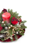 Traditional Christmas decorations of Christmas trees Stock Photo