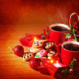 Traditional Christmas dessert Stock Images