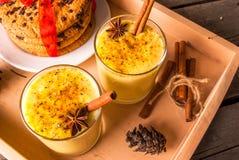 Traditional Christmas drink eggnog Stock Photo