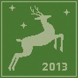 Traditional  Christmas embroidery pattern Royalty Free Stock Images