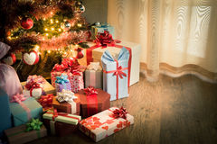 Traditional christmas eve at home Stock Photos
