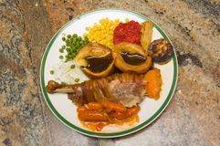 Traditional christmas food Royalty Free Stock Photos