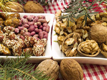 Traditional Christmas Food Stock Images